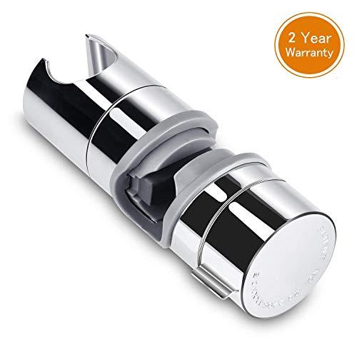 Soporte Ducha Aoleca 18-25mm ABS Almohadilla Ajustable del Cromo del Soporte de la Abrazadera del resbalador de Ducha Rotating 360 Degrees, PB4 para el Cuarto de baño