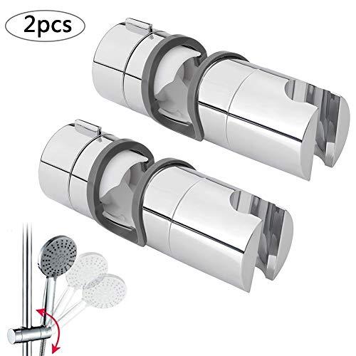 Soporte Ducha Barra, BETOY 22-25mm ABS Almohadilla Ajustable del Cromo del Soporte de la Abrazadera del Resbalador de Ducha Rotating 360 Degrees, para el Cuarto de Baño