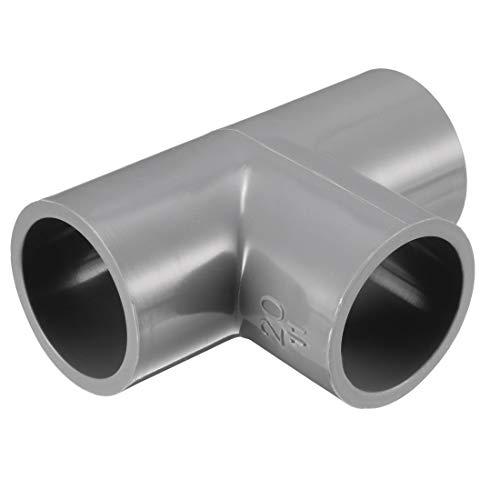 Sourcingmap - Adaptador para tuberías de PVC (20 mm, 5 unidades), color gris