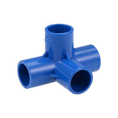 Sourcingmap - Codo para riego (4 vías, PVC, PVC)