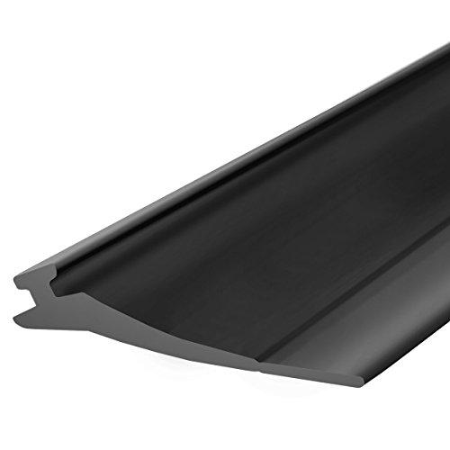 STEIGNER Junta para la Puerta de Garaje SBD03 Negra PVC 52x2 mm, 3 m