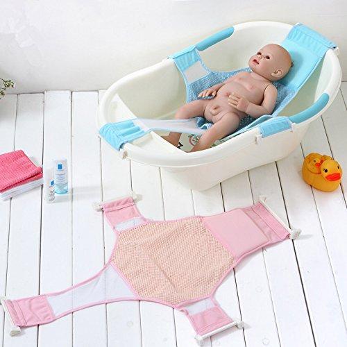 StillCool Recién Nacido Asiento baño del bebé Accesorios de baño de Soporte del Asiento baño de Ducha del bebé recién Nacido del bebé Baño de Seguridad (Rosa) (Azul)