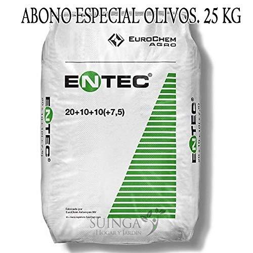 Suinga ABONO Fertilizante ENTEC Nitrofoska 20+10+10. 25 Kilos. Recomendado para OLIVOS. Inhibidor de la nitrificación.