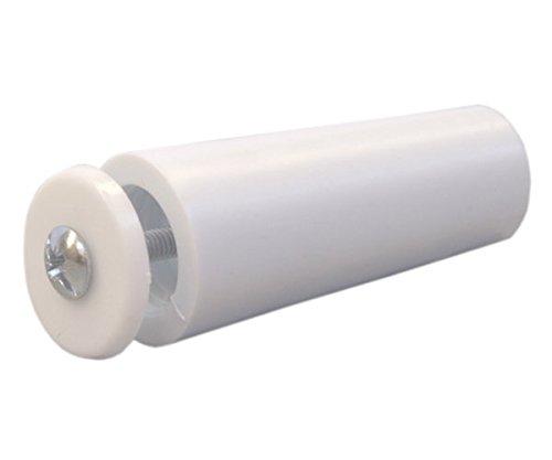 Sysfix Tope para persiana TP 55 Blanco (Caja de 12 Unidades con Tornillo y arandela), 5.5x2.4x2.4 cm