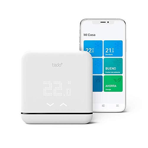 tado° 4260328611630 Control de Climatización Inteligente V3, Trabaja con Amazon Alexa, Apple HomeKit y Asistente de Google, Blanco