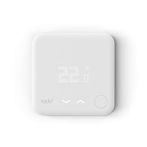 tado° TADAT01 Termostato, Accesorio Habitaciones múltiples, Control de calefacción Inteligente, 0 W, 220 V, Blanco, 43 cm