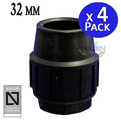 TAPON FINAL POLIETILENO 32MM (pack 4). Producto con certificado AENOR utilizado para taponar tuberías PE 32 mm