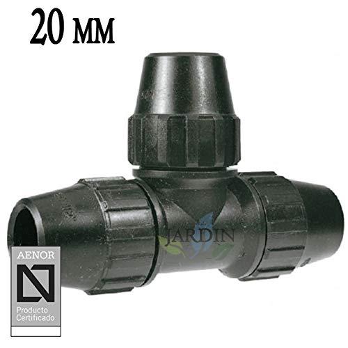 TE IGUAL POLIETILENO 20MM. Producto con certificado AENOR utilizado en tuberías PE 20 mm para uso fontanería, riego y obras.