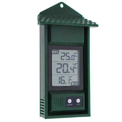 Termómetro Digital para Invernadero MAX Min – Monitorea temperaturas máximas y mínimas para Interiores y Exteriores, Accesorios de Invernadero fácilmente montado en la Pared