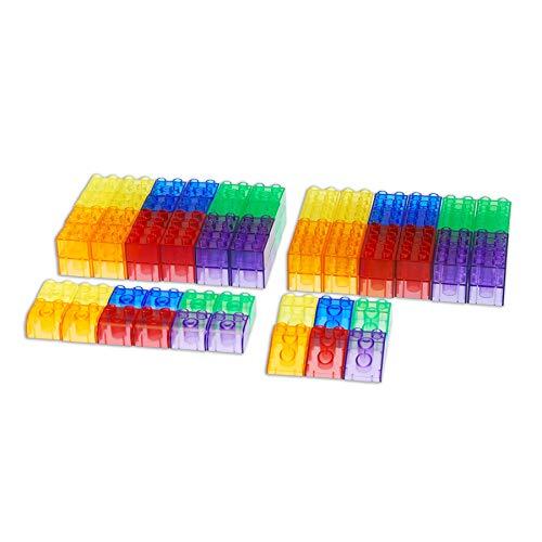 TickiT 73081 Bloques de construcción, 90 piezas, translúcidos