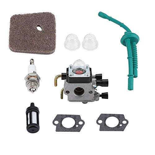 TOPINCN Kit de reemplazo de carburador para STIHL FS55 FS55R FS55RC FS38 KM55 HL45 KM55R Motor asequible Cortacéspedes Partes Accesorios