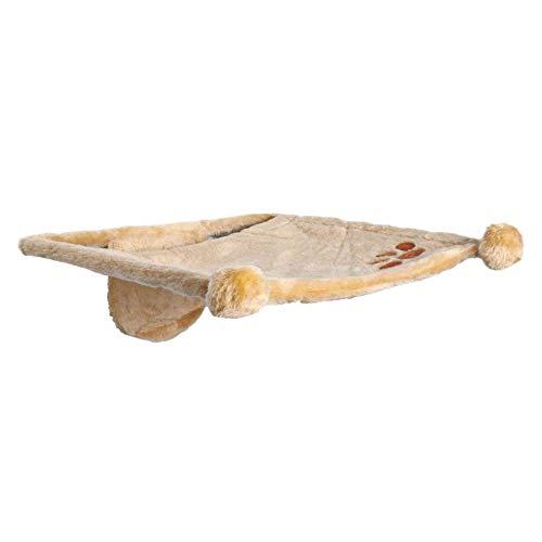 Trixie 43511- Hamaca de Felpa de Estilo Asiento para fijación a la Pared, 42x 41cm, Color Beige