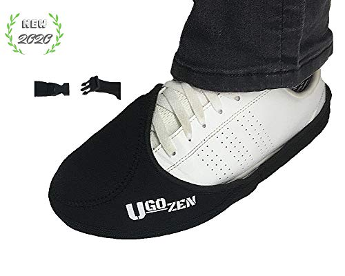 Ugozen - Protector Zapato Moto, Accesorios Protector Zapato y Botas Moto Hombre , Protector Cambio Marchas Moto Antideslizante Negro