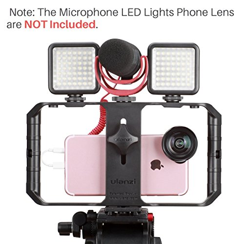 Ulanzi U Rig Pro Smartphone Video Rig, iPhone Filmmaking Case Case Phone Video Stabilizer Grip Soporte de trípode para Videomaker Film-maker Videographer para iPhone X 8 Plus Sumsang