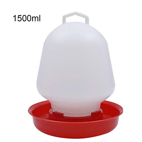 Unwstyu - Fuente redonda para beber, diseño de pollo, para colgar tazas, bebedero de agua para mascotas, para mascotas