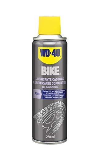 WD-40 Bike- Lubricante de Cadenas de Bicicleta para Todo Tipo de Condiciones y Ambientes- Spray 250ml