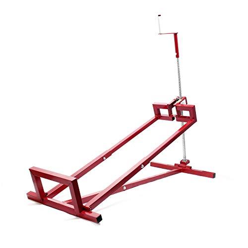 WilTec Dispositivo de elevación de la segadora a Bordo, Elevador de Tractores de césped 115x50x20cm 250kg