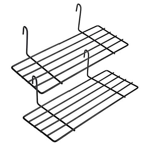 wuzilin 2 PCS Estante para diseño Parrilla de Pared de Metal, Estante Diseño Grid Photo Wall Utilizado para celosía Photo Wall 9.8x3.9x3.1, Negro
