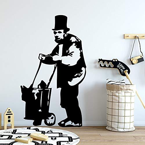 wZUN 2psc Vinilo Decorativo clásico Banks Old Man 28X47cm