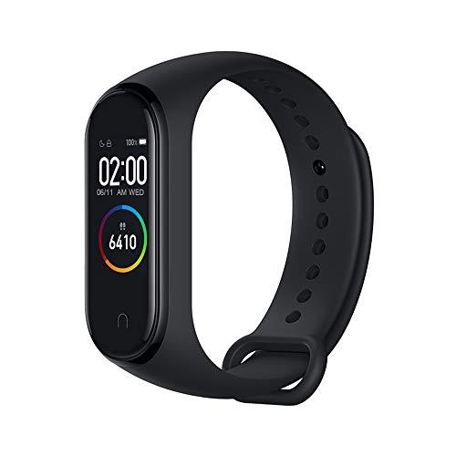 Xiaomi Mi Band 4 Pulsera de Actividad,Monitores de Actividad,Pantalla Pulsómetro Fitness Tracker, Smartwatch con 0.95''Pantalla AMOLED a Color ,con ios y Android,Negro( Versión Global)