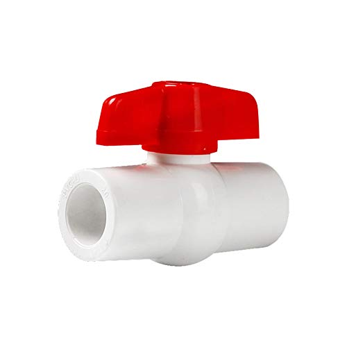 YOFASEN 6 Piezas Rectos Conectores de Adaptador de Tubo PVC - Accesorios de tubería de Fontanería 20mm - Conector de Acoplamiento de Tubería de Compresión con Válvulas, Blanco