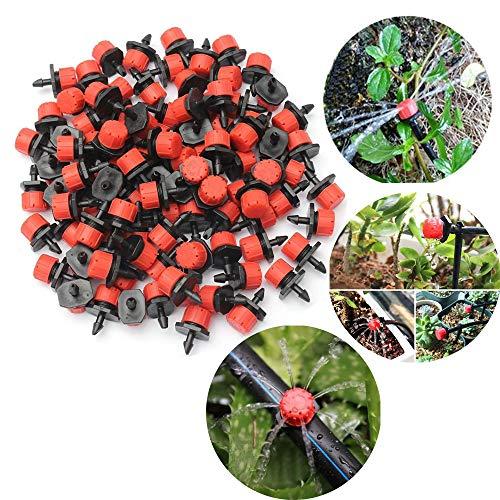 ysister 200 Piezas Riego por Goteo 8 Hole Red Ajardinamiento por Goteo Equipo de riego Accesorios de jardinería Micro Boquillas de Goteo, para césped, jardín, Jardines de Hierbas, riego, etc