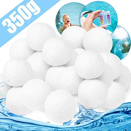 Zaloife Bola de Filtro de Piscina 350g Cuarzo Productos de Sustitución de Arena de Filtro, Bolas del Filtro de Arena del Cuarzo, para Piscina, Filtro de Arena para Piscina, Medios, Filtrado de Agua