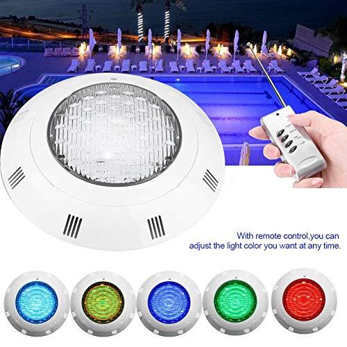 Zerodis- Luces led piscina sumergibles, 35W RGB 300 LED Lámpara de luz nocturna para reflector subacuático a prueba de agua, multicolor con control remoto para iluminación de piscinas